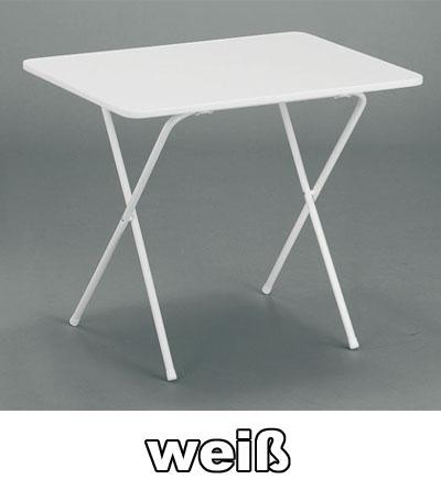 MFG Campingtisch klappbar eckig 60 x 80 cm weiß Kunststoff Bild 1