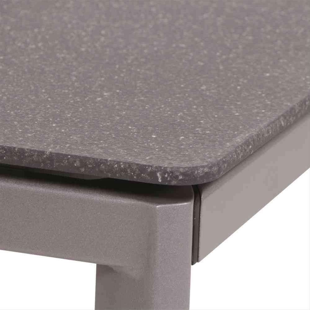 Mwh Gartentisch Diningtisch Alutapo Alu Silber Creatop Grau 160x95cm