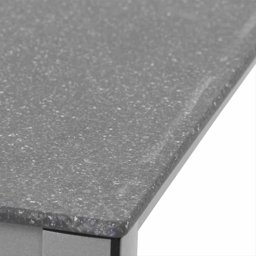 Mwh Gartentisch Elements Alu Silber Creatop Grau 90x90cm Bei