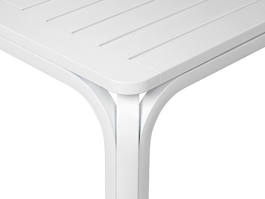 Nardi Gartentisch Alloro 140/210x100cm Alu / Kunststoff bianco Bild 3