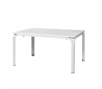 Nardi Gartentisch Alloro 140/210x100cm Alu / Kunststoff bianco Bild 1