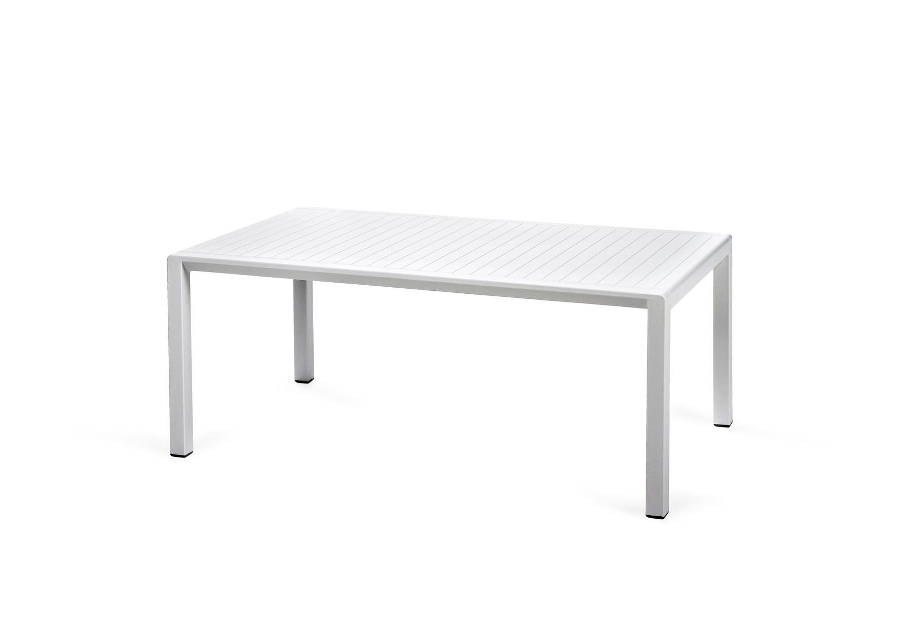Nardi Gartentisch / Beistelltisch Aria 100 Kunststoff 100x60cm bianco Bild 1