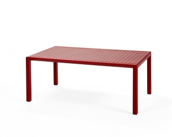 Nardi Gartentisch / Beistelltisch Aria 100 Kunststoff 100x60cm rosso Bild 1
