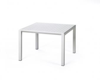 Nardi Gartentisch / Beistelltisch Aria 60 Kunststoff 60x60cm bianco Bild 1