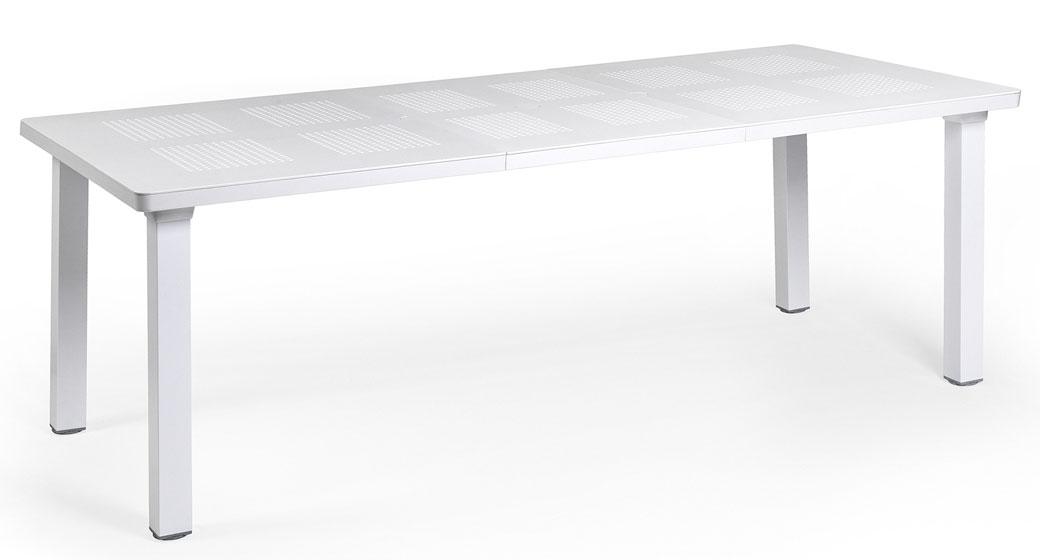 Nardi Gartentisch Levante 160/220x100cm Alu / Kunststoff bianco Bild 1