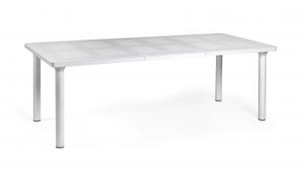 Nardi Gartentisch Libeccio 160/220x100cm Alu / Kunststoff bianco Bild 1