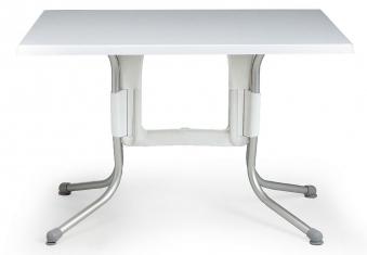 Nardi Klapptisch Polo 110x70cm Alu / Werzalit-Topalit bianco / bianco Bild 1