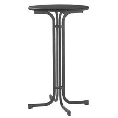 SIEGER Bartisch / Stehtisch klappbar Ø70cm grau Stahl Bild 1