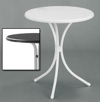 SIEGER Gartentisch / Bistrotisch Ø60cm Stahl graphit / anthrazit Bild 1