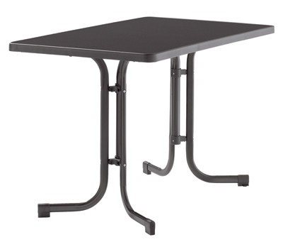 SIEGER Gartentisch / Klapptisch 115x70cm Stahl grau/Mecalit anthrazit Bild 1