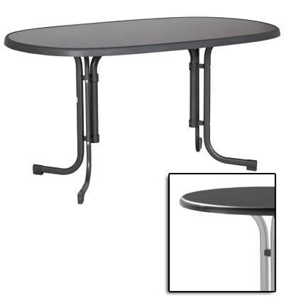 sieger gartentisch klapptisch 140x90cm stahl graph mecalit anthrazit bei. Black Bedroom Furniture Sets. Home Design Ideas