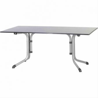 SIEGER Gartentisch / Klapptisch 165x95cm Stahl graphit / Vivodur anthr Bild 1