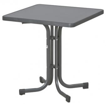 SIEGER Gartentisch / Klapptisch 70x70cm Stahl grau/Mecalit anthrazit Bild 1