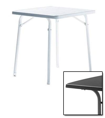 SIEGER Gartentisch/ Klapptisch 70x70cm Stahl grau / Mecalit anthrazit Bild 1