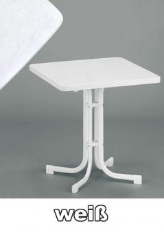 sieger gartentisch klapptisch 70x70cm stahl wei mecalit wei bei. Black Bedroom Furniture Sets. Home Design Ideas