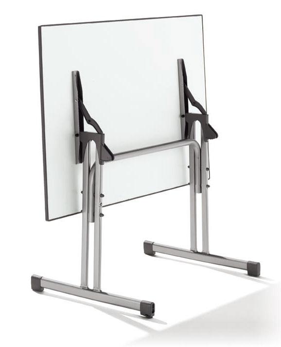 gartentisch / klapptisch puroplan gastro 80x80cm stahl graph, Hause und garten