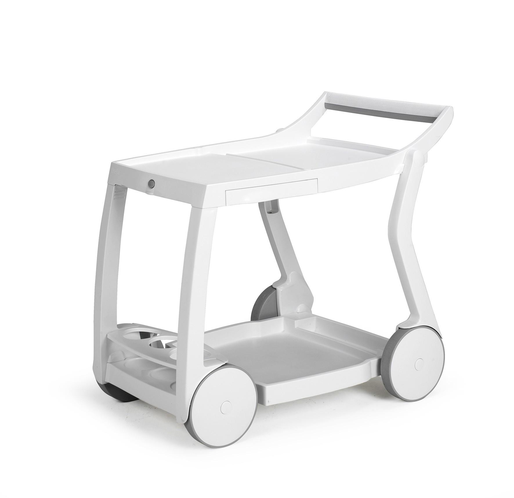 Servierwagen fahrbar  klappbar Galileo Kunststoff weiß  bei