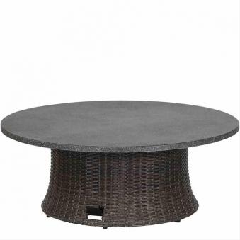 Siena Garden Gartentisch Lift Tisch Porto Polyrattan grau Ø 100cm Bild 1