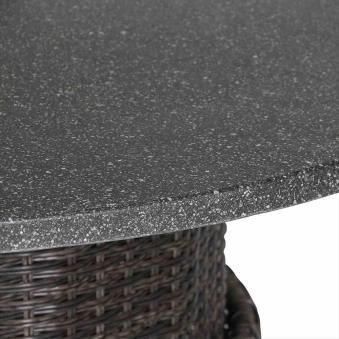 Siena Garden Gartentisch Lift Tisch Porto Polyrattan grau Ø 100cm Bild 3