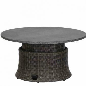 Siena Garden Gartentisch Lift Tisch Porto Polyrattan grau Ø 100cm Bild 4