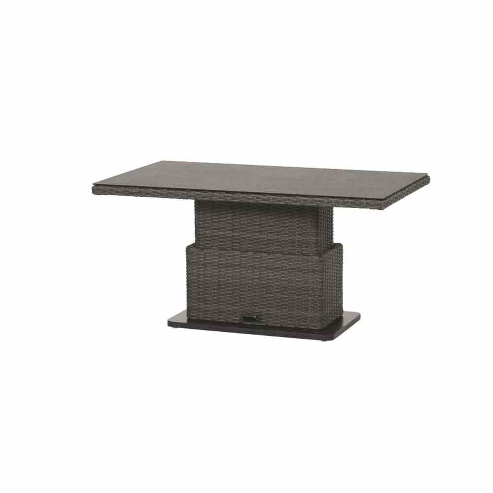 Siena Garden Gartentisch Lift Tisch Porto Polyrattan grau 130x75cm Bild 4