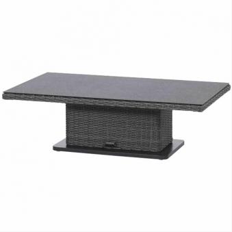 Siena Garden Gartentisch Lift Tisch Porto Polyrattan grau 130x75cm Bild 1