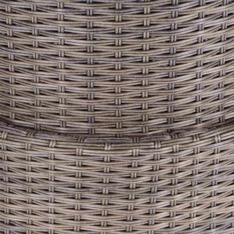 Siena Garden Lift Tisch Teramo / Girona Polyrattan bronze Ø 100cm Bild 2