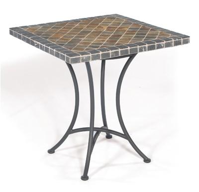 Sonnenpartner Gartentisch Montblanc 70x70cm Eisengrau Mosaik Eisen