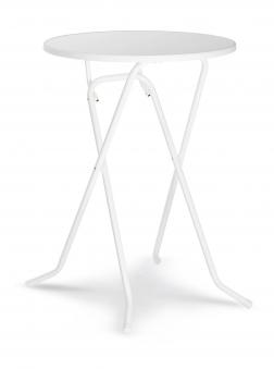 Stehtisch / Bartisch Primo klappbar Ø80cm Stahl weiß Bild 1