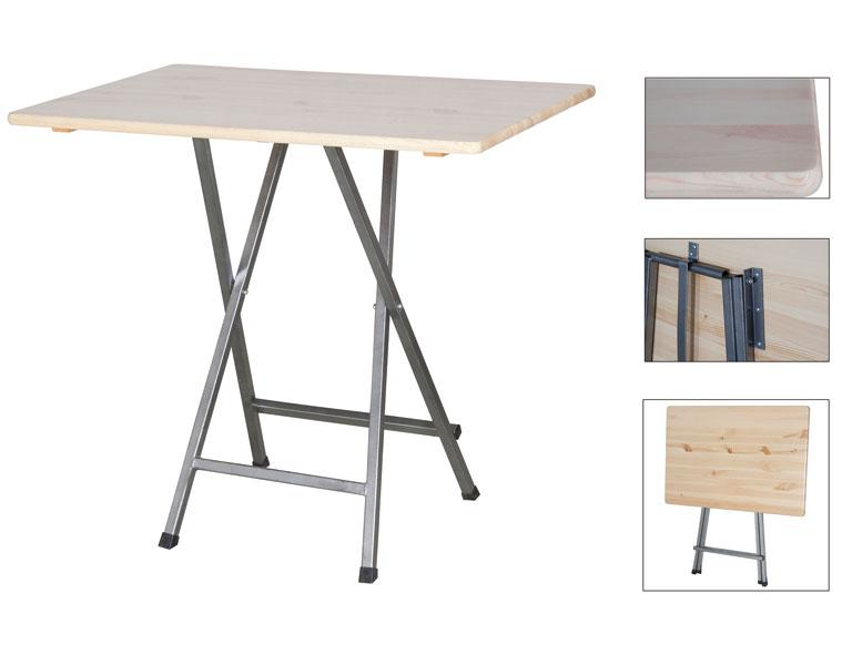 stehtisch bartisch klappbar 120x80cm kiefernholz stahl. Black Bedroom Furniture Sets. Home Design Ideas