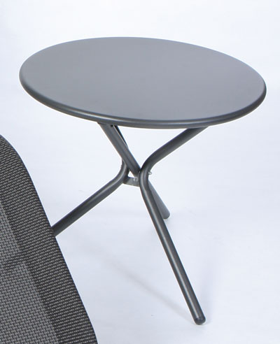 Sungörl Balkontisch / Beistelltisch / Klapptisch Stahl Ø55cm anthrazit Bild 1