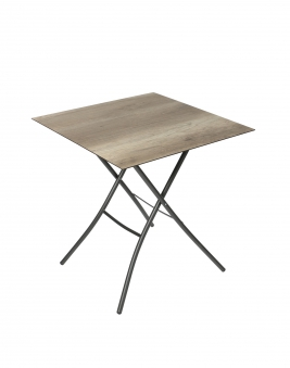 Sungörl Gartentisch / HPL Klapptisch Holzdekor 50x70cm anthrazit Bild 1