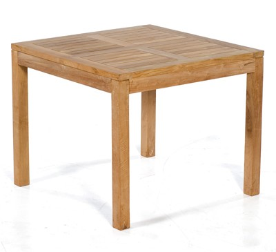 Sunny Smart Gartentisch Massivholztisch eckig Wellington 90x90cm Teak Bild 1