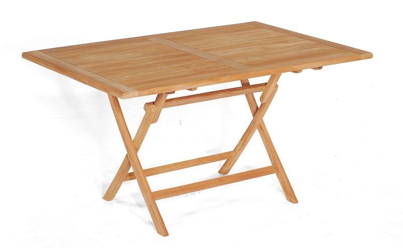 Sunny Smart Gartentisch / Massivholztisch klappbar Perth 140x95cm Teak Bild 1