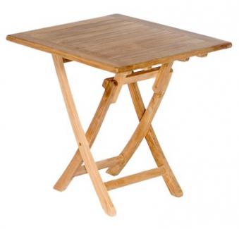 Sunny Smart Gartentisch / Massivholztisch klappbar Perth 70x70cm Teak Bild 1