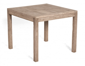Sunny Smart Gartentisch eckig Wellington 90x90cm Teak grey-washed Bild 1