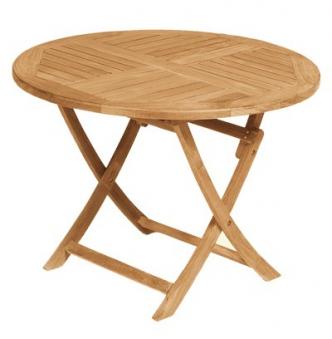 Sunny Smart Gartentisch rund klappbar York Ø100cm Teak Bild 1