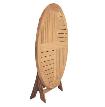 Gartentisch rund klappbar  Sunny Smart Gartentisch rund klappbar York Ø120cm Teak - bei ...