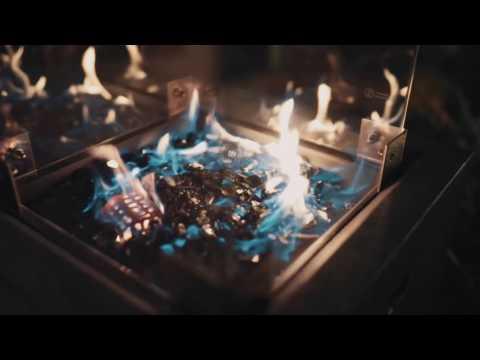 Terrassenfeuer Gas / Beistelltisch Clifton Compact round grey 9kW Video Screenshot 1625