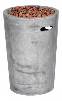 Terrassenfeuer Gas / Beistelltisch Clifton Compact round grey 9kW Bild 1