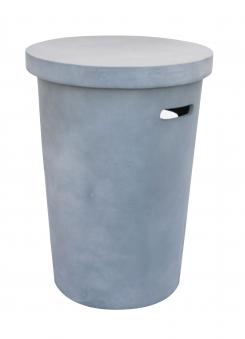 Terrassenfeuer Gas / Beistelltisch Clifton Compact round grey 9kW Bild 2