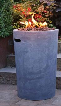 Terrassenfeuer Gas / Beistelltisch Clifton Compact round grey 9kW Bild 3