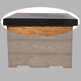 Terrassenfeuer Gas / Gartentisch Clifton Standard Teak 60x60cm 15kW Bild 3