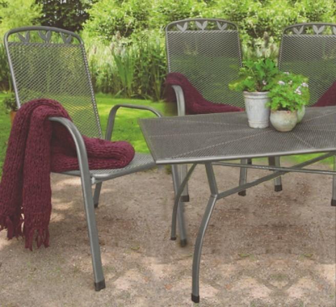 Gartenmöbel Set Toulouse Streckmetall eisengrau