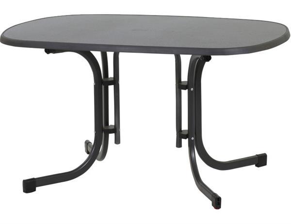 MFG Freizeitmöbel Gartentisch / Klapptisch oval Venito 132x90cm anthrazit