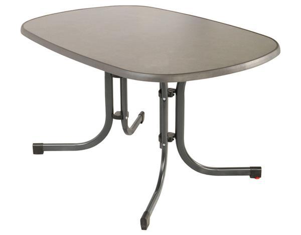 MFG Freizeitmöbel Gartentisch Klapptisch MFG Sevelt oval 150x90cm anthrazit/schiefer