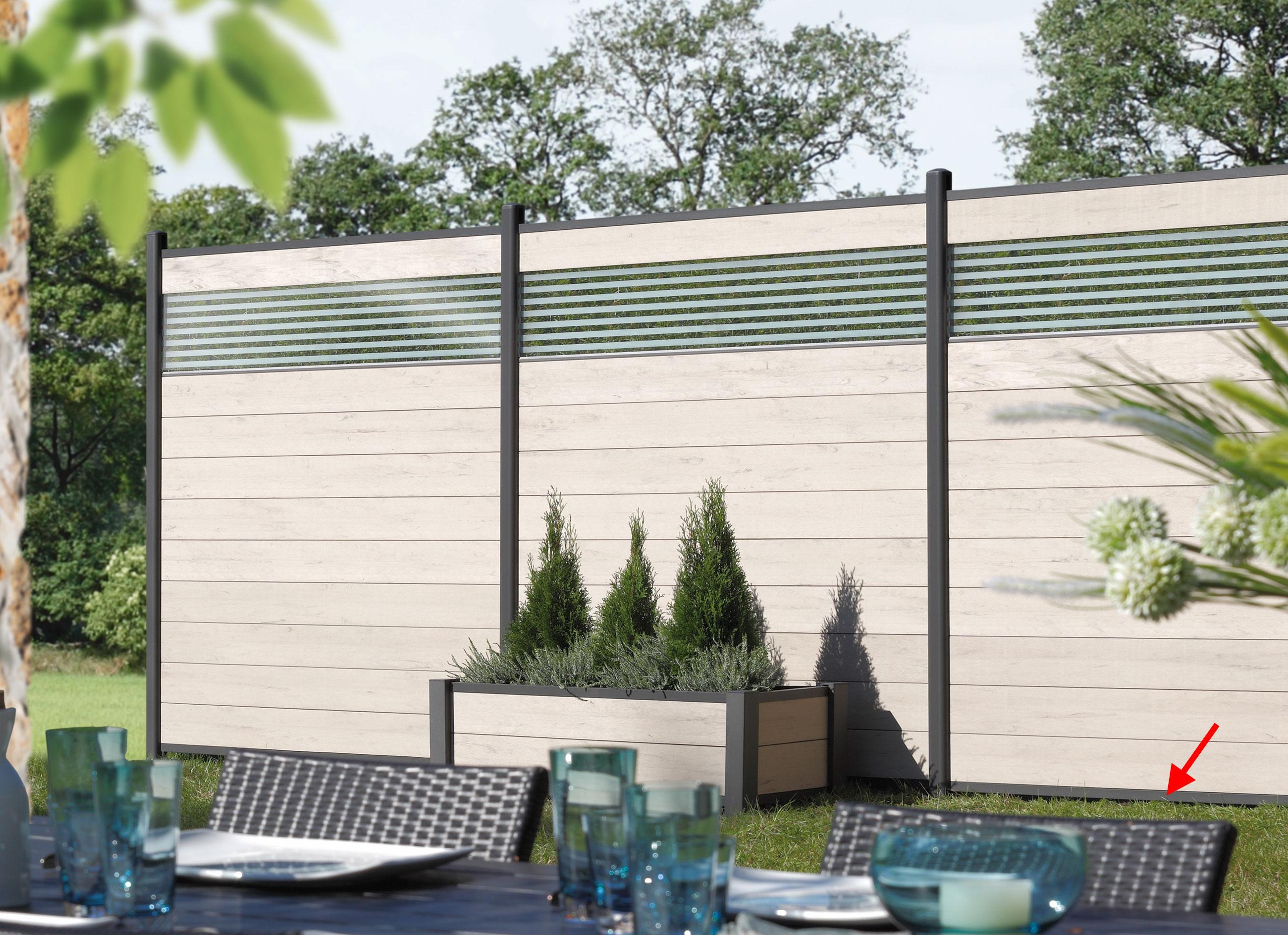 Sichtschutzzaun Wpc Glas Möbel Ideen und Home Design Inspiration