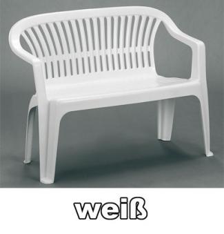 gartenbank 2 sitzer diva wei kunststoff stapelbar bei. Black Bedroom Furniture Sets. Home Design Ideas
