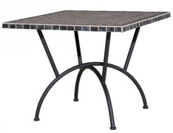 gartentisch ponza 90x90cm mosaik stahl bei. Black Bedroom Furniture Sets. Home Design Ideas