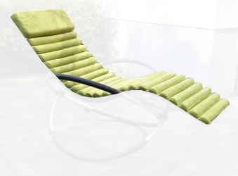 polster auflage f r sonnenliege gr n. Black Bedroom Furniture Sets. Home Design Ideas